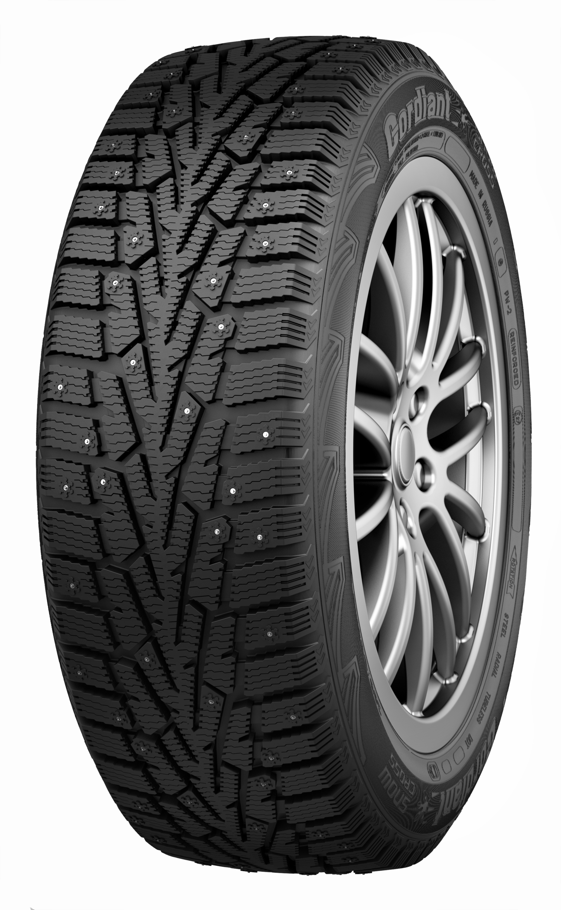 CORDIANT Snow Cross PW-2 75Q 155/70R13 б/к Ошип.