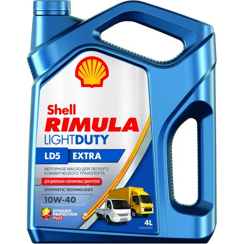 Моторное масло синтетика Shell Rimula Light Duty LD5 Extra 10W-40 4L