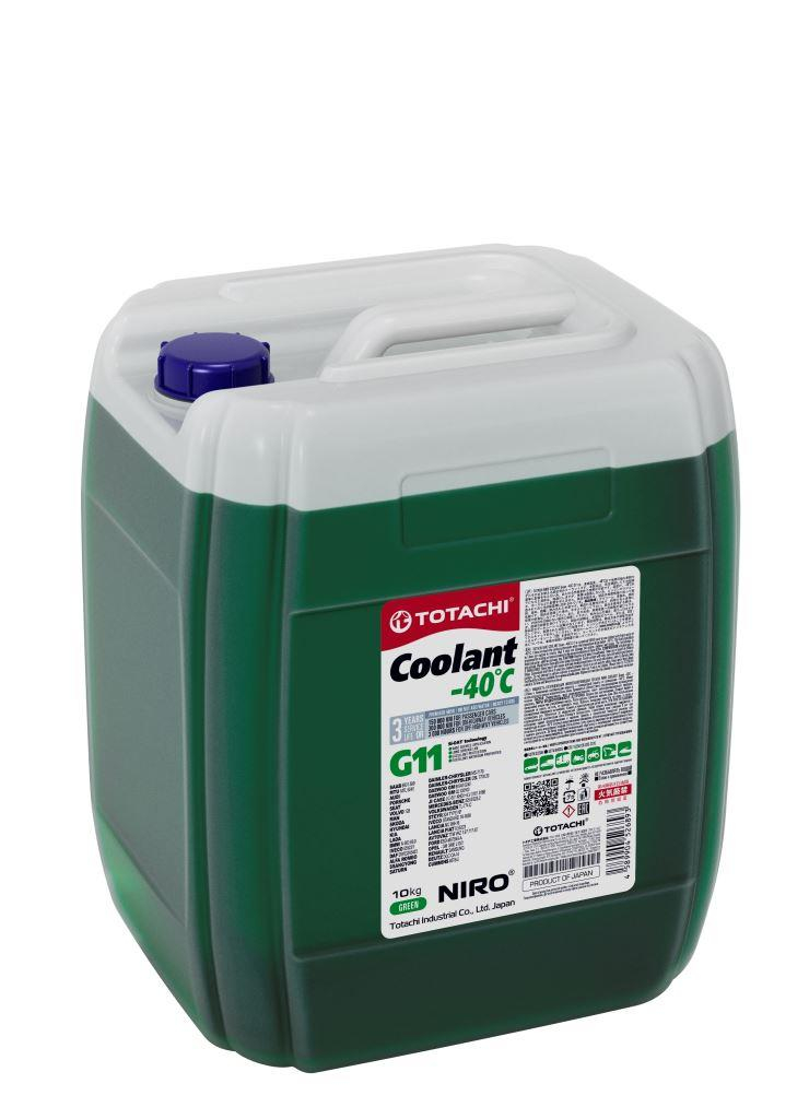 Антифриз TOTACHI NIRO Coolant Green -40C   10кг